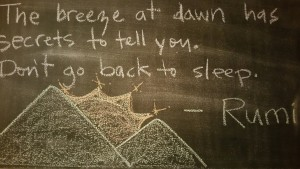 Leadership can take the form of the breeze in Rumi's quote. (i.e. Be the breeze = be the messenger)